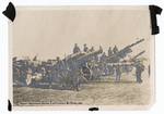 English soldiers with German artillery