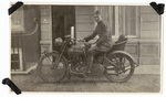 Soldier on motorcycle