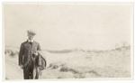 Man standing in dunes