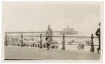 Fred Marshall leaning again railing