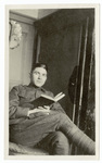 Portrait of soldier with book