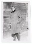 Portrait of soldier in long coat