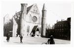 Church in city square