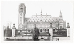 Man posing in front of building