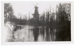 Windmill by a waterway