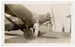 Faith Risner Marshall with airplane