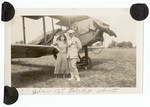 Faith and Fred Marshall with airplane
