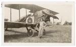 Faith Marshall with airplane