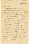 Handwritten Letter from Horn to his Sister