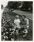 Photograph of Mayor Horn with Marigolds