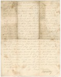 Letter from William McKinney to His Cousin, circa 1862 by William M. McKinney