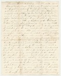 Letter from William McKinney to His Cousin Martha McKinney, circa 1862