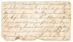 Letter from an unknown writer to an unknown recipient, circa 1862