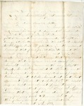 Letter from William McKinney to His Cousin Martha McKinney, December 3, 1861 by William M. McKinney