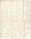 Letter from William McKinney to His Cousin Martha McKinney, December 3, 1861