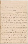 Letter from William McKinney to His Cousin Martha McKinney, January 26, 1862