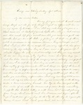 Letter from William McKinney to His Cousin Martha McKinney, April 24, 1862