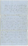 Letter from William McKinney to His Cousin Martha McKinney, December 1, 1862