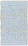 Letter from William McKinney to His Cousin Martha McKinney, December 2, 1862