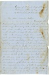 Letter from William McKinney to His Cousin Martha McKinney, December 12, 1862
