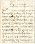 Letter from William McKinney to His Cousin Martha McKinney, March 22, 1863