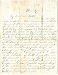 Letter from William McKinney to His Cousin Martha McKinney, April 28, 1863