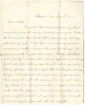 Letter from William McKinney to His Cousin Martha McKinney, August 5, 1863 by William M. McKinney