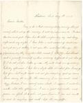 Letter from William McKinney to His Cousin Martha McKinney, August 5, 1863