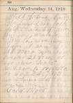 Diary of Donald McKinney, September through December 1918