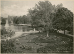 Flower Beds and Lake at Conservatory, National Military Home of Dayton