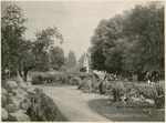 View from Conservatory toward Main Entrance at the National Military Home of Dayton by Keyes Souvenir Card Company