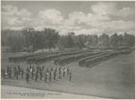 The Band and General Review on Campus at the National Military Home of Dayton by Keyes Souvenir Card Company