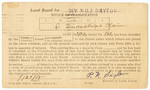 World War I Notice of Classification Card