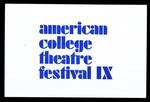American College Theatre Festival IX - Title Card