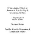 Wright State University's Symposium of Student Research, Scholarship & Creative Activities from Friday April 13, 2018 by Wright State University