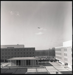 View of aircraft flying over Wright State University by The Center for Teaching and Learning