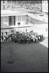 Aerial view of student demonstration by The Center for Teaching and Learning