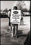 Earth Week Protestor
