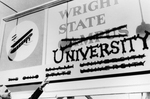 Brage Golding with Wright State University Sign by The Center for Teaching and Learning