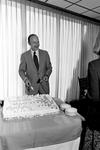President Kegerreis serving cake