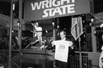 Lt. Governor Paul Leonard and President Kegerreis celebrate Wright State University's 20th Anniversary