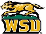 """Wright State University Rowdy """"wolf"""" mascot"""
