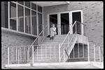 Student on Steps