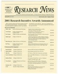 WSU Research News, Spring 2001 by Office of Research and Sponsored Programs, Wright State University
