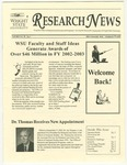 WSU Research News, Fall 2003 by Office of Research and Sponsored Programs, Wright State University