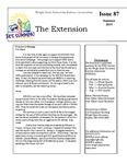 The Extension Newsletter, Issue 87, Summer 2015
