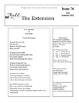 The Extension Newsletter, Issue 76, Fall Semester 2012