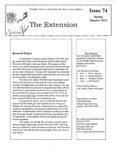 The Extension Newsletter, Issue 74, Spring Quarter 2012