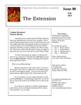 The Extension Newsletter, Issue 80, Fall 2013 by Wright State University Retirees Association