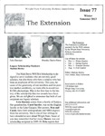 The Extension Newsletter, Issue 77, Winter Semester 2013